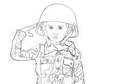 boy soldier line
